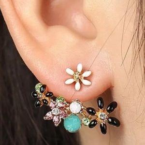 ❤️gorgeous multicolor flower drop stud earrings